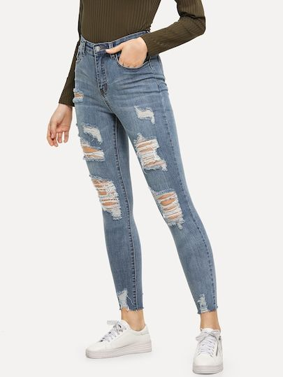 Lejia Lavar Ripped Jeans Ajustados Cute Ripped Jeans Ripped Skinny Jeans Best Jeans For Women
