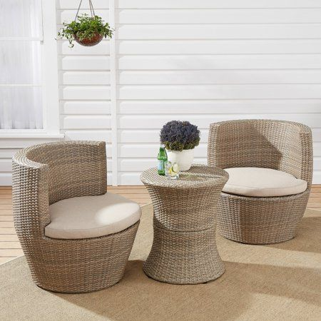 Patio Garden In 2020 Bistro Set Wicker Outdoor Furniture Sets