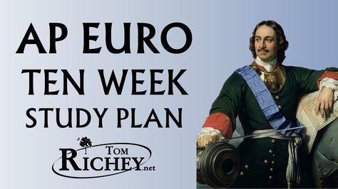 Ten Week Study Plan for AP European History Students