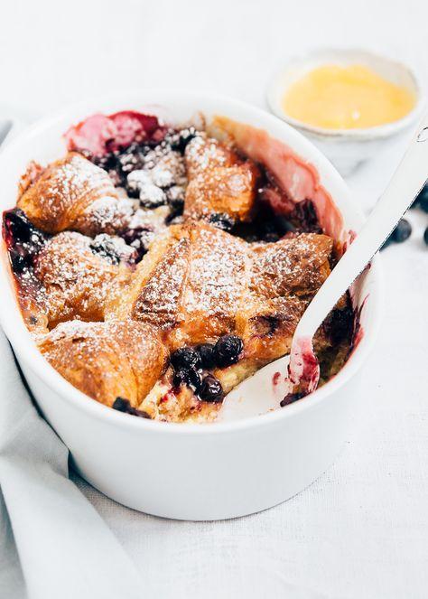 Croissant Broodpudding Met Lemoncurd Uit Pauline S Keuken Broodpudding Lekker Eten Eten En Drinken