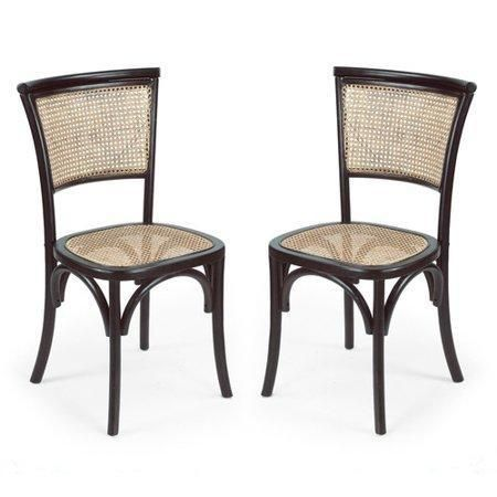 Adeco Trading Dining Cane Side Chair Set Of 2 Cartbomber Com Cane Dining Chairs Dining Chairs Wood Dining Chairs