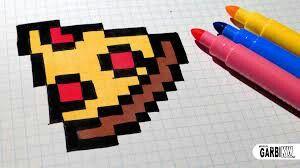 Pizza Pixeliada Dessin Pixel Art Facile Pixel Art Et