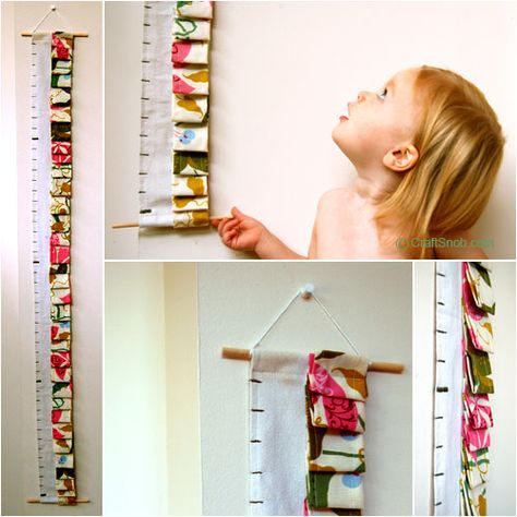 Use your leftover fabric and @Craft Snob's tutorial to make your little ones a fun growth chart.
