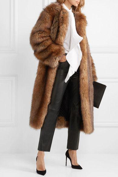Brown Faux Fur Coat Givenchy Faux Fur Coats Outfit Brown Faux Fur Coat Long Fur Coat