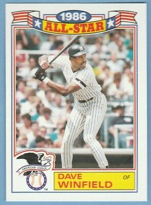 1987 Topps 1986 All Star Glossy 17 Dave Winfield Yankees Ebay In 2020 Winfield Yankees New York Yankees Baseball
