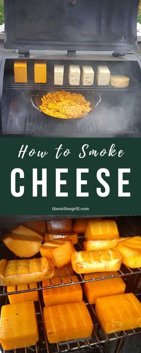 How to Smoke Cheese - Everything you need to know about smoking cheese at home in your BBQ smoker - Smoker Grill Recipes, Smoker Cooking, Grilling Recipes, Traeger Recipes, Smoked Meat Recipes, Meat Appetizers, Appetizer Recipes, Smoke Cheese Recipe, Fromage Cheese