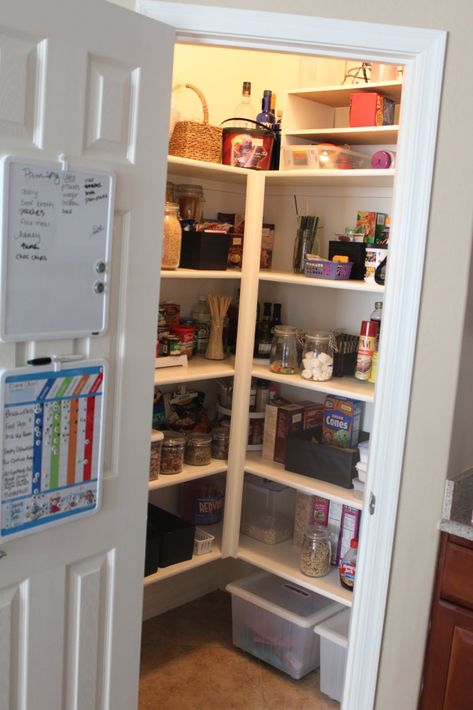 It May Go Up Or Closet In The Medicine Cabinet Products Like Revashelf Kidney Shaped 24inch Small Pantry Small Sp Corner Pantry Pantry Shelving Pantry Makeover
