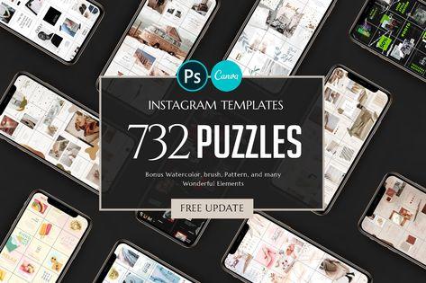 PUZZLE Bundle Instagram - PS & Canva