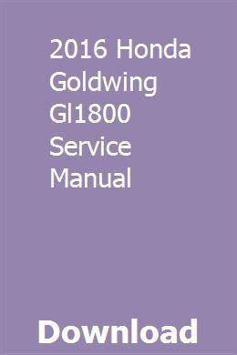 gl1800 maintenance manual