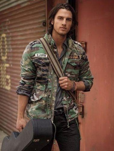 Denim Supply Ralph Lauren Men Military Army Camo Patchwork