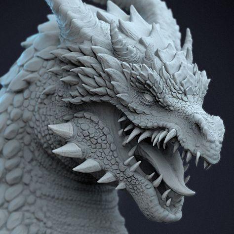 Dragon Bust sketch, Jas Dhatt