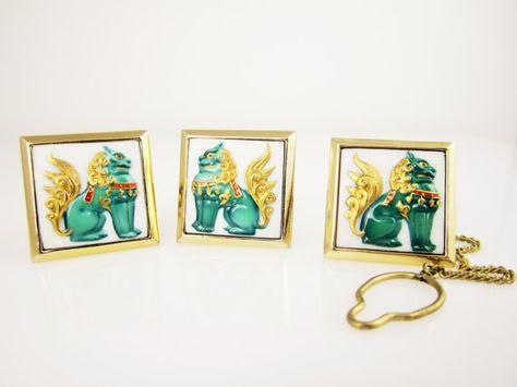 Vintage groom Vintage Japanese Wedding Asian Cufflinks Vintage Cufflinks Pagoda Cufflinks Unisex Cufflinks Porcelain Pagoda Cufflinks