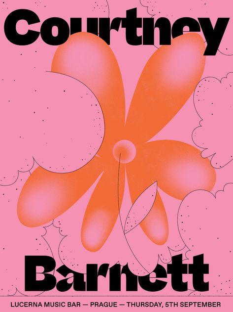 Courtney Barnett Poster on Behance Graphic Design Resume, Graphic Design Posters, Graphic Design Illustration, Typography Design, Branding Design, Poster On, Poster Prints, Newspaper Design, Japanese Graphic Design