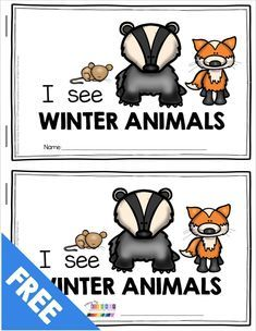 All About Winter FREE ACTIVITIES — Keeping My Kiddo Busy : FREE adorable mini book for students to practice reading and writing animals they learned about in the book The Mitten freebie printables and activities for animals that migrate and hibernate i Art Therapy Activities, Language Activities, Literacy Activities, Preschool Activities, Winter Activities, Christmas Activities, Kindergarten Literacy, Preschool Classroom, Preschool Winter