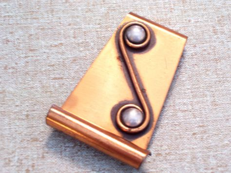 Vintage RENOIR Copper Silver Pin Modernist by TheCopperCat on Etsy
