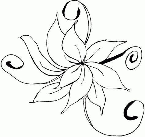 Pin Desenho De Flor Para Colorir Flores Desenhos On Pinterest Az
