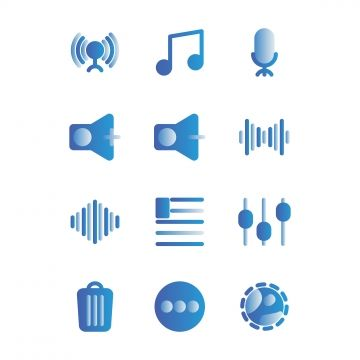 Music And Multimedia Icon Set Outline Include Circle Music Start Play Signal Phase Connecting Tone Tone Rhythm Speak Music Clipart Music Player App Play Music