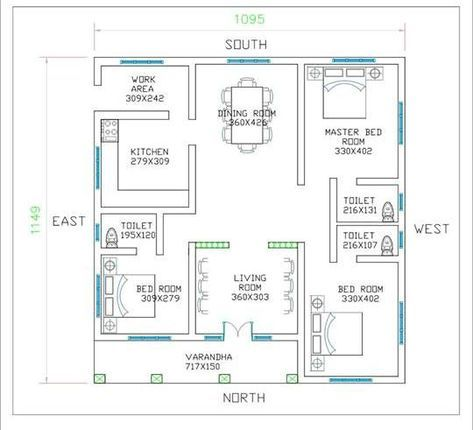 29 Trendy Small House Plans 3 Bedroom Indian Low Cost House Plans Square House Plans Kerala House Design