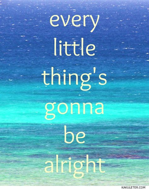 Everything/'s Gonna Be Alright Tropical Beach Wall Sign Inspirational Home Decor