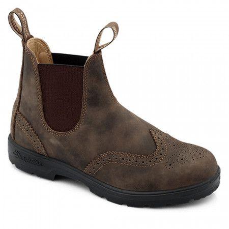 Blundstone 1472 Women/'s Sizing Rustic Black, Brogue- WingTip, Slip Resistant