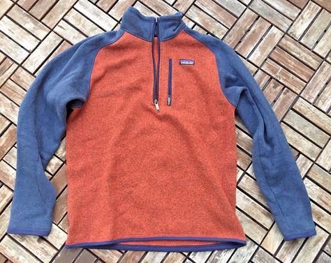 Patagonia Mens Better Sweater 14 Zip Fleece Pullover Medium Red