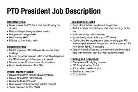 A Job Description For Parents Of Teens Parenting Pinterest - president job description