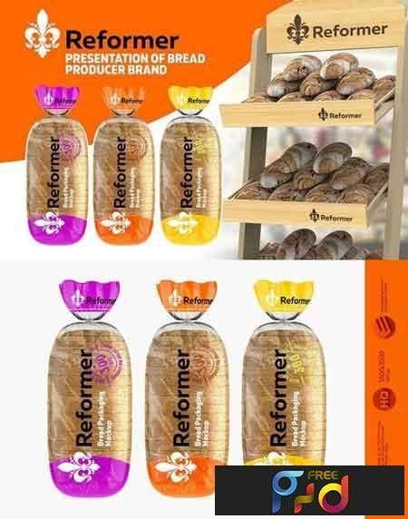 Download 1709297 Bread Package 2 Mock Ups Files 1787741 Freepsdvn Bread Packaging Bread Mockup