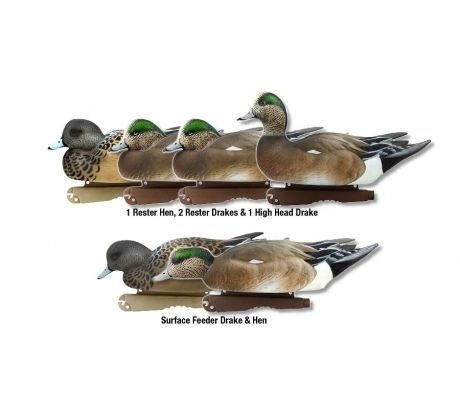 Avery Greenhead Gear Life-Size Puddler Pack Wigeon Gadwall Pintail Decoys GHG