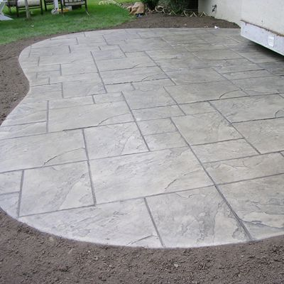Captivating Concrete Stamp For Porch
