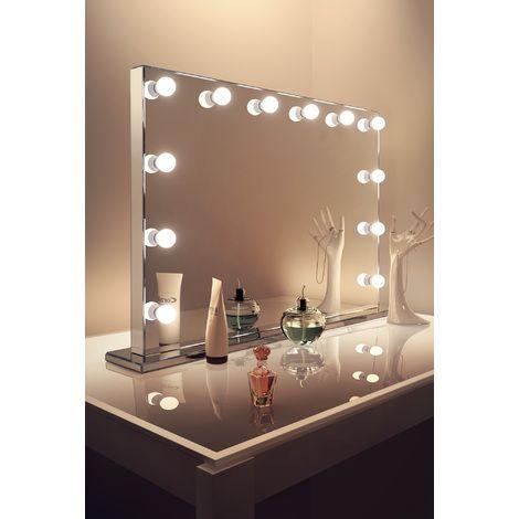 Miroir De Maquillage Hollywood Finition Miroir Led Graduables
