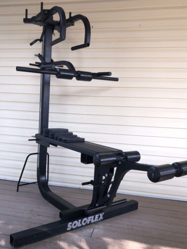 Free Shipping 995 0 Soloflex Machine W Leg Extension Retro Butterfly Dip Bar And Weights Used In 2021 Best Home Gym Equipment Home Gym Best Home Gym