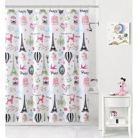 Home Kids Bathroom Shower Curtain Kid Bathroom Decor Plastic
