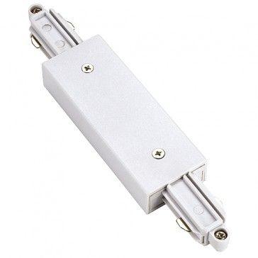 Längsverbinder für 1-Phasen HV-Stromschiene, Aufbauversion, weiss mit Einspeisemöglichkeit / LED24-LED Shop