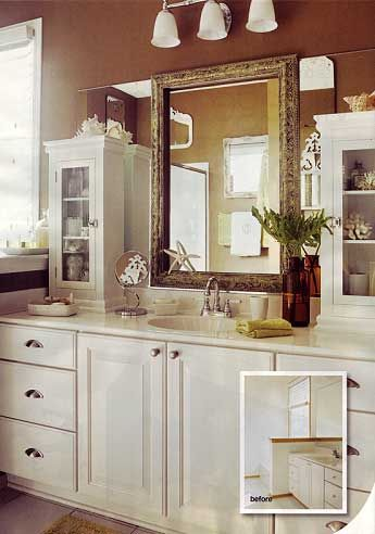 For Rental Bathrooms With One Large Mirror Over The Sink Use A Frame And