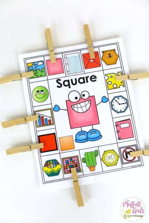 Kindergarten Math, Kindergarten, Shapes, Common Core Math, H Preschool Lessons, Preschool Learning, Kindergarten Activities, Kindergarten Shapes, Teaching Shapes, Teaching Math, Common Core Math, Math Games, Math Centers