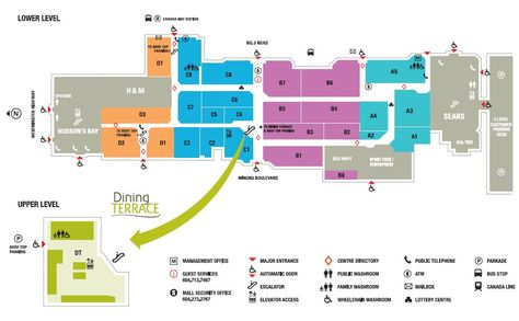 CF Richmond Centre shopping plan | Mall maps | Richmond ...