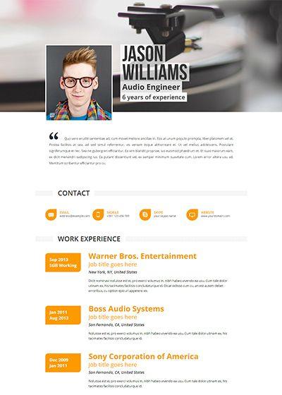Premium resume template - Pulsar #jobsearch #careers #jobs #resume - online resumes templates