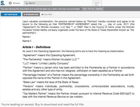 Sample Partnership Agreement for any business avail on the KI - sample business partnership agreement