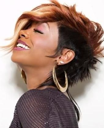 woman mohawks | mohawk hairstyles for black women with blonde hair color