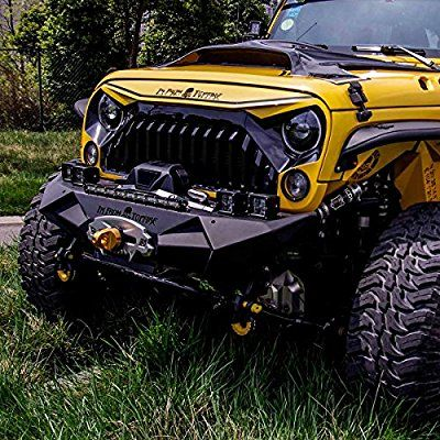 Amazon Com Topfire Fury Grill Replacement Grill For Jeep Wrangler 2007 2017 Including Rubicon Sahara And Jeep Wrangler Jeep Wrangler Accessories Jeep Suv