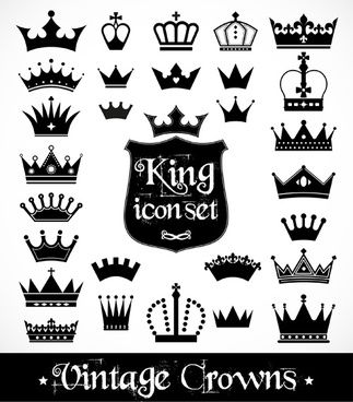 Vector Crown Creative Silhouettes Set Vector Free Crown Png Vector