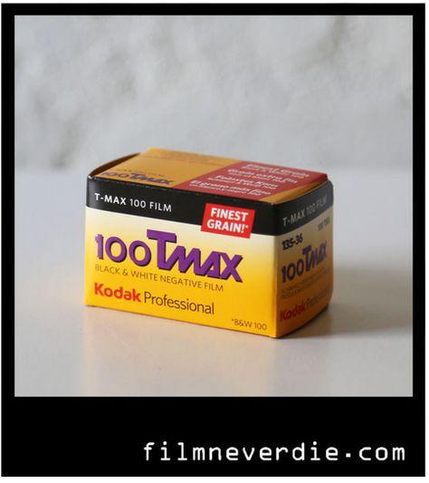 KODAK TMAX 100 T-MAX BLACK AND WHITE FILM BLANCO Y NEGRO 36 FOTOS