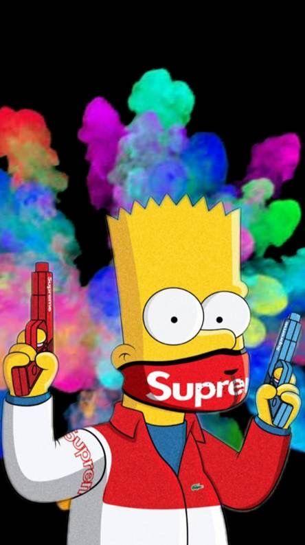 Picsart Photo Studio Simpson Wallpaper Iphone Wallpaper Iphone Cute Bart Simpson Art