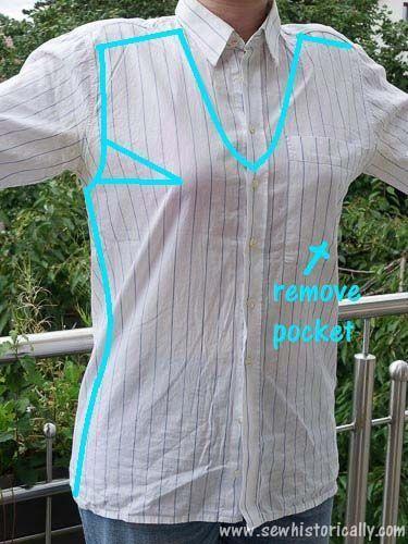 Men's Shirt To Women's Blouse - Refashion - #Blouse #mens #Refashion #shirt #Wom...#blouse #mens #refashion #shirt #wom #womens