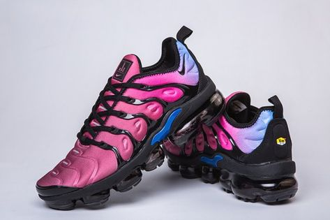 c58abc3f3684a Nike Air VaporMax Plus TN Purple Burgundy Blue Men s Running Shoes Casual  Sneakers in 2019