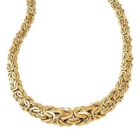 14k Polished Fancy Link Necklace Women S Size 17 Inch Yellow Byzantine Necklace Fancy Link Fancy Jewelry Necklace