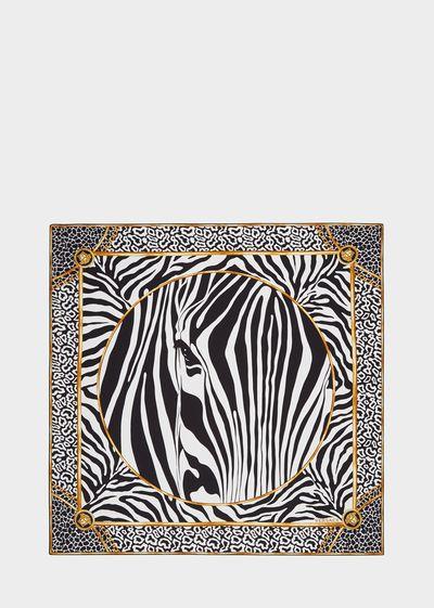 Zebra Jacquard Silk Foulard - I7044 Foulards & Scarves