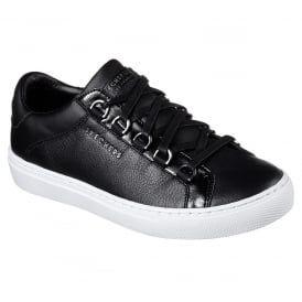 e812e558444c Side Street Black Leather Skechers Sneakers