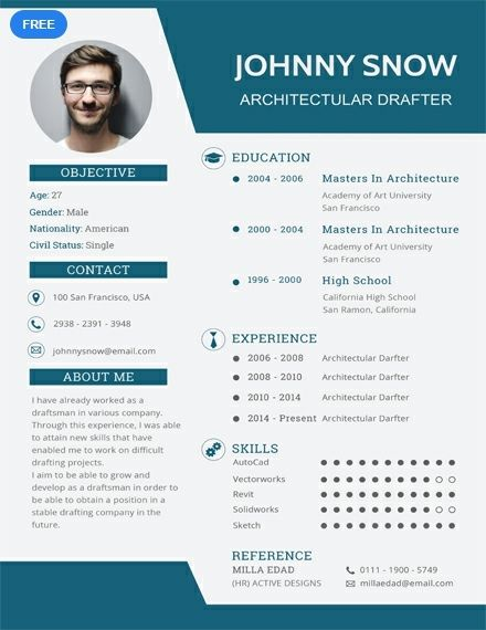 Draftsman Resume Cv Template Word Psd Indesign Apple Pages Illustrator Publisher Cv Template Free Cv Template Word Free Resume Template Word