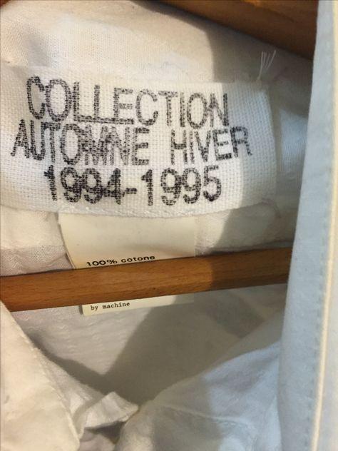 Stamped label lettering
